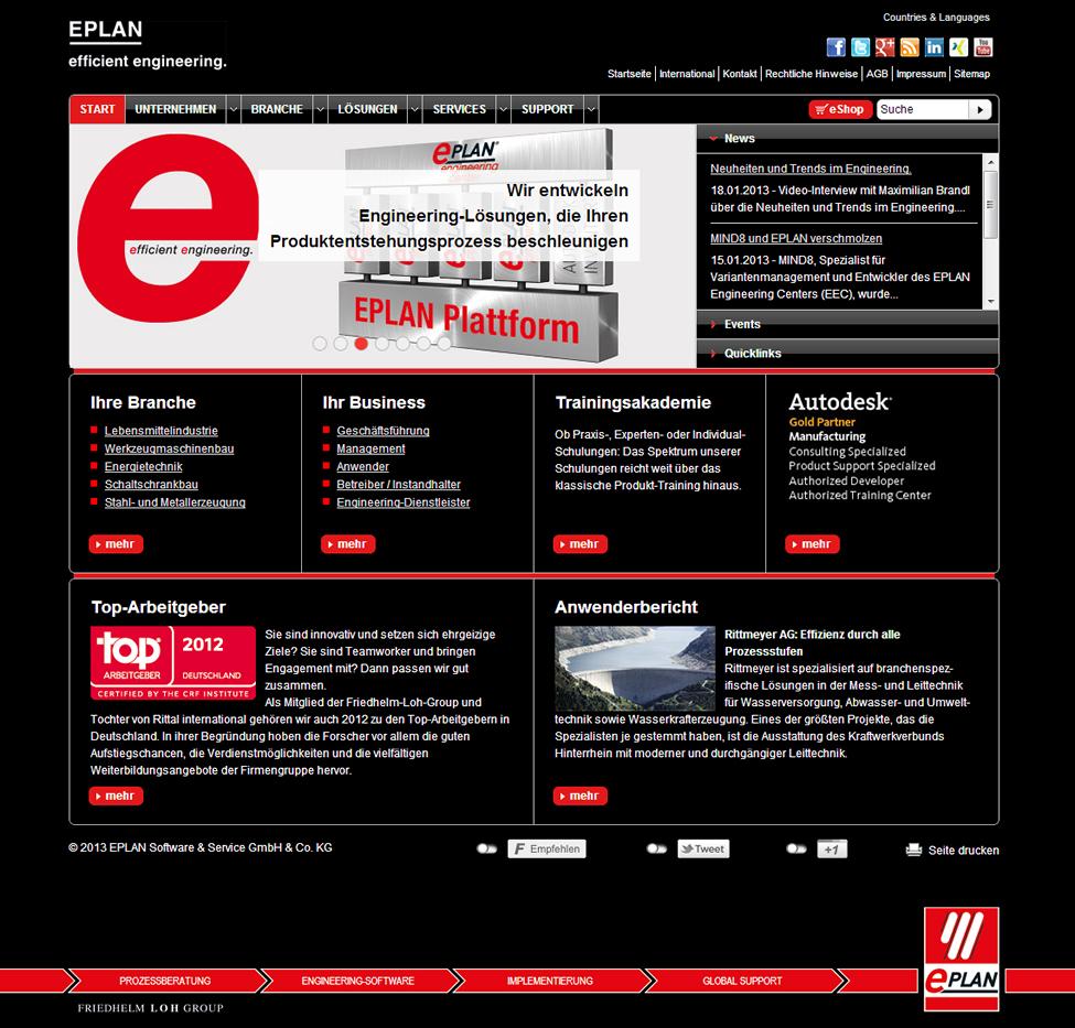 Eplan presents new website | Friedhelm Loh Group